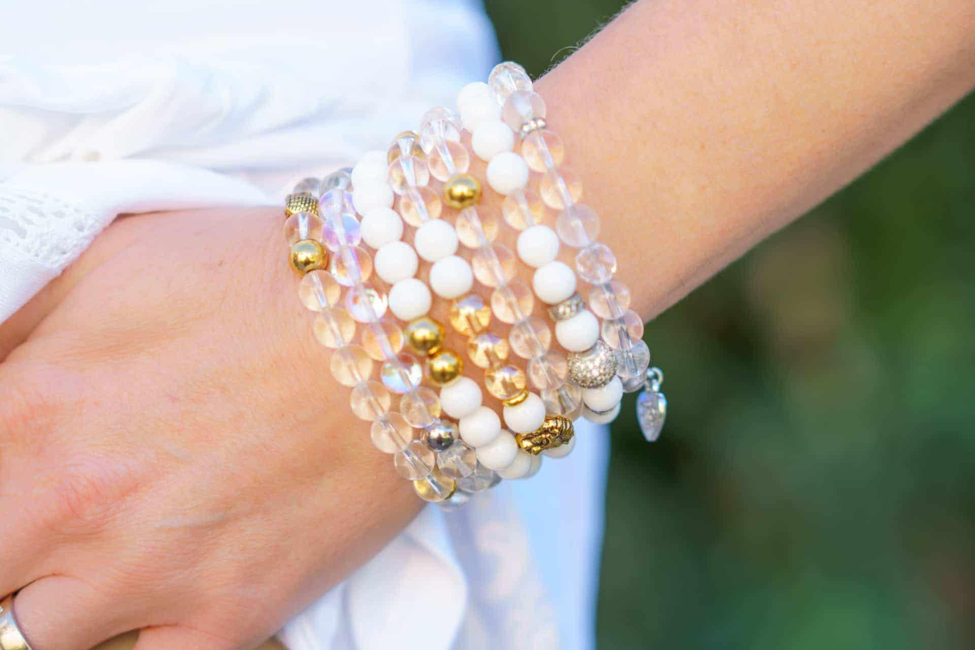 example of product photography bracelets on wrist